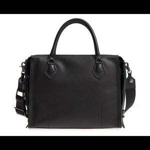 Brand New Botkier Large Black Moto Satchel